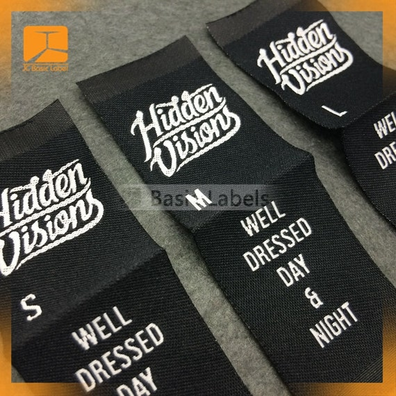 300 Woven Labels Center Fold Custom Clothing Labels Woven