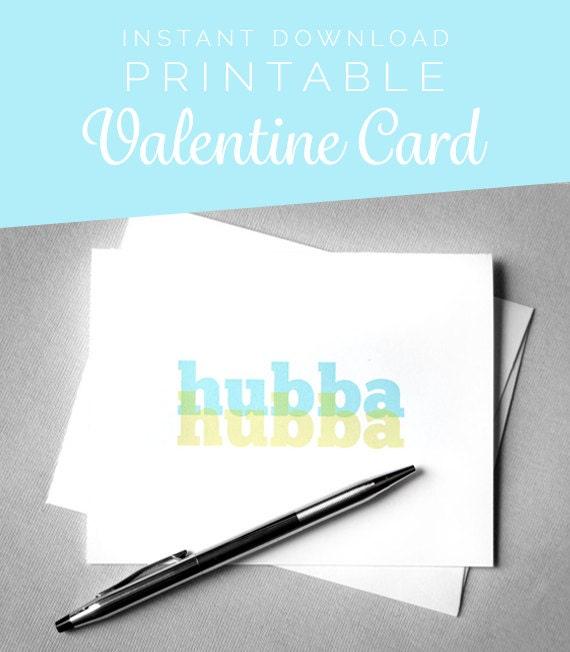 Valentine Card Him Printable Valentine For Man Diy Valentine Etsy