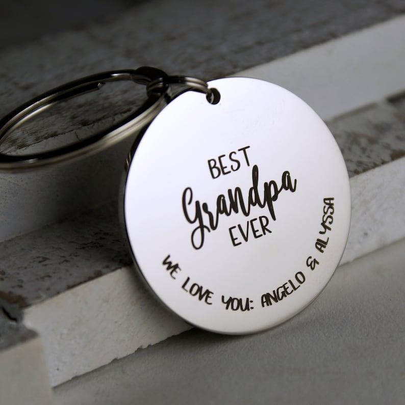 Grandpa Keychain \u2022 Personalized Gift for Grandpa \u2022 Custom keychain with grandchildren names \u2022 All our little ones