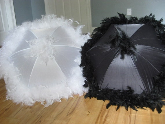 Wedding Umbrellas Second Line Authentic New Orleans Bride Groom Mr Mrs Set Of 2 Medium Parasol Size Wedding Parasols White Ivory Black