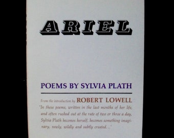 ARIEL--Poems by Sylvia Plath (paperback)