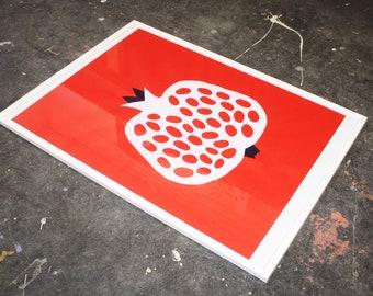 Pomegranate screen print