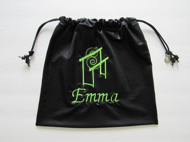 dfa7bd4b978c Emma Personalized GYMNASTICS GRIP BAG w/ gem charmblack foil | Etsy