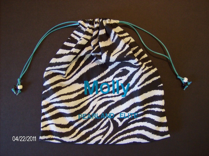 e7761fbd47a9 Monogram custom girls GYMNASTICS GRIP BAG w/ drawstring pull | Etsy