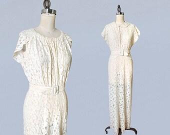 1920s Dress Burnout Velvet Flapper Gown Cut Devore