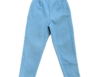 1950s Cigarette Pants / Slim Stretch 50s Jeans / High Waist Fitted Bad Girl Silhouette