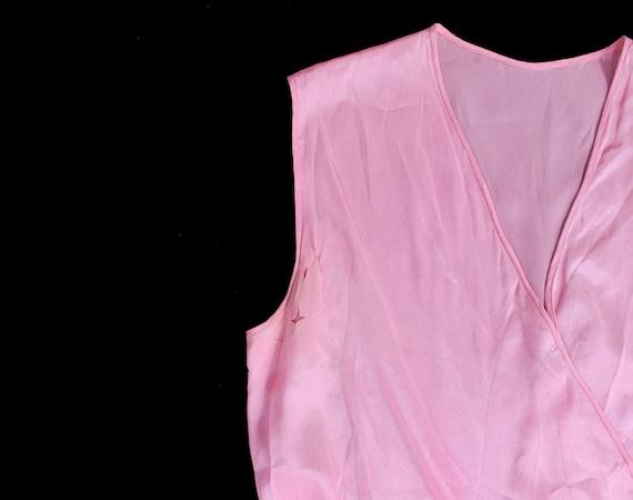 Rare! 1930s Beach Pajamas  / 30s PINK Pj Jumpsuit… - image 5