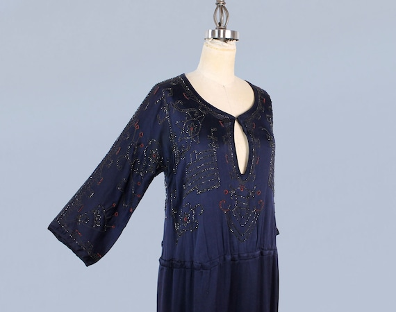 1920s Dress / 20s EGYPTIAN REVIVAL Beaded Embroid… - image 2