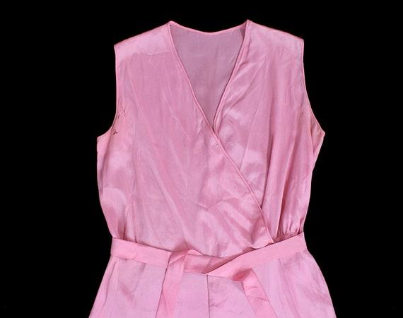 Rare! 1930s Beach Pajamas  / 30s PINK Pj Jumpsuit… - image 2