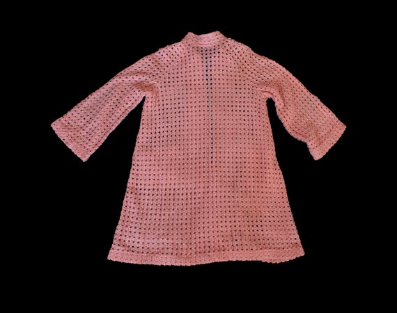 1930s Knit Sweater / 30s Pink Knit Jacket / Cardi… - image 4