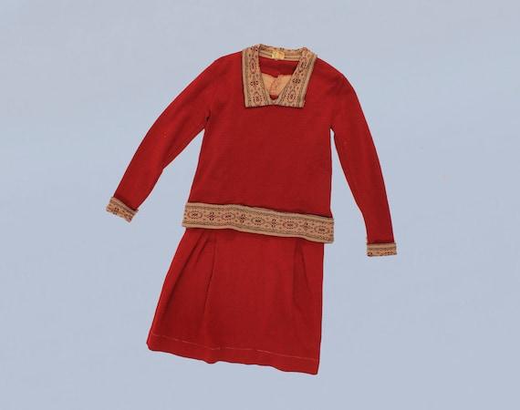 RARE 1920s Knit Set / Two Piece 20s Sportswear Dre