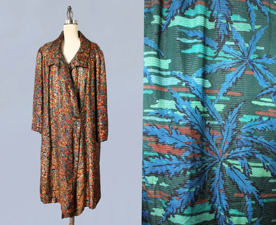 1920s Flapper Coat / 20s Vibrant Colorful Metallic