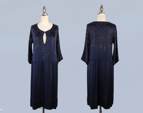 1920s Dress / 20s EGYPTIAN REVIVAL Beaded Embroid… - image 5