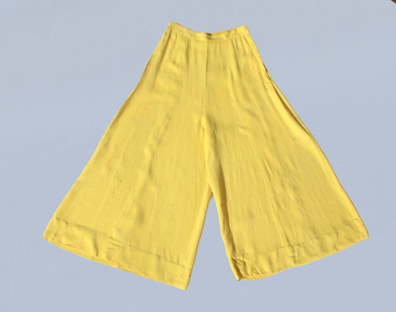 RARE 30s Pants / 1930s Sportswear Yellow Cotton Wi
