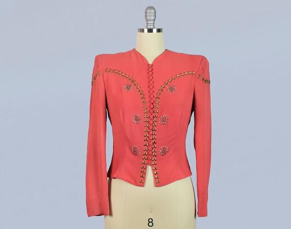 1930s 1940s Jacket / Late 30s early 40s Studded Bu