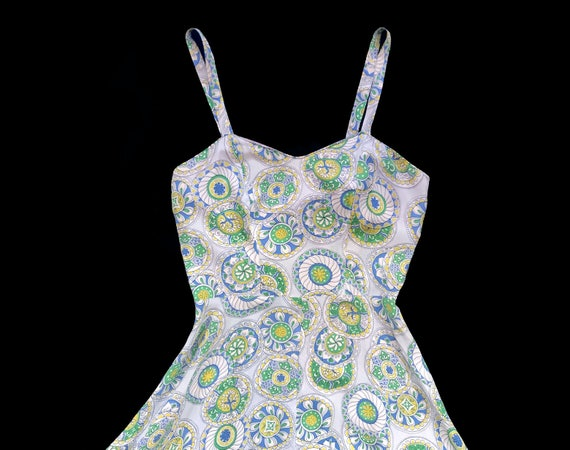 RARE!!! 1940s Jumpsuit / 40s Printed Onesie and J… - image 4