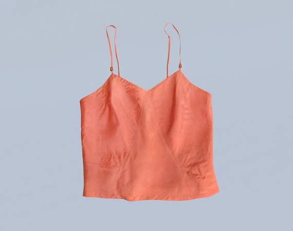 1930s Top / 30s Lingerie Camisole Top Blouse / Pin