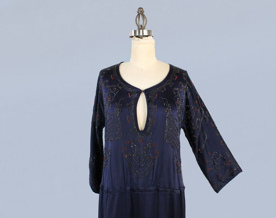 1920s Dress / 20s EGYPTIAN REVIVAL Beaded Embroid… - image 4