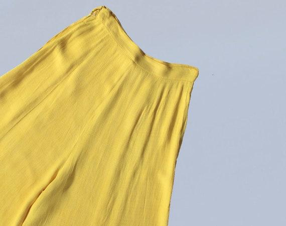 RARE 30s Pants / 1930s Sportswear Yellow Cotton W… - image 2