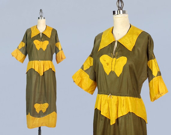 RARE Antique Halloween Costume / 1920s Butterfly D
