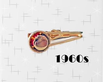 Vintage Early 1960s Tie Clip Unusual Recessed Pattern with Greek-Style Waves For Narrow Tie Great Condition Hardly if Ever Worn