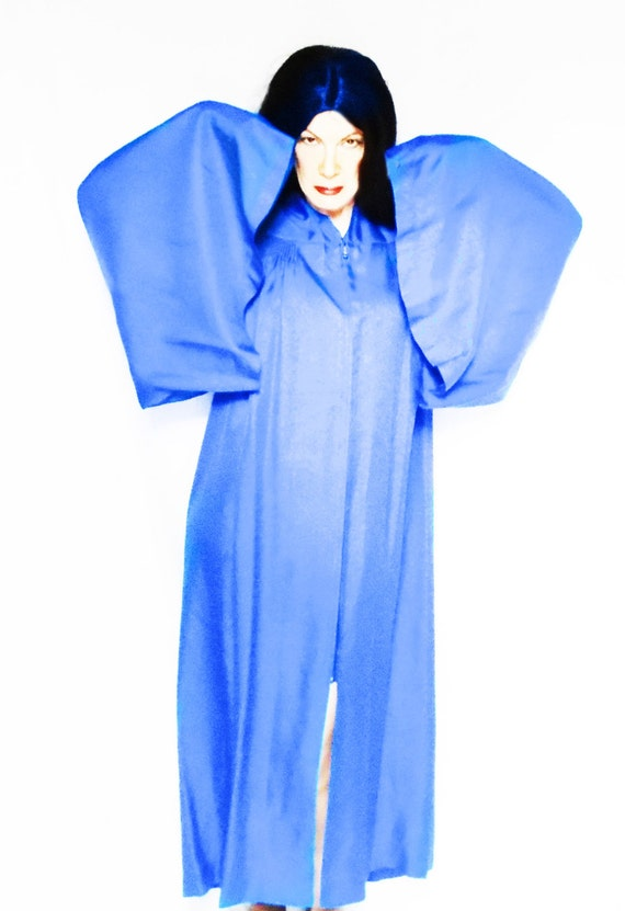 Blue Wizard Robe One Size Unisex Cosplay Costume, Extravagant 50s Vintage Graduation Gown, Blue Choir Gowns