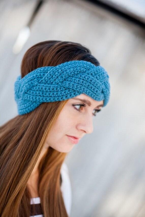 Geflochtene Crochet Earwarmer Geflochtenes Häkeln Stirnband Etsy