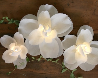 Magnolia Centerpiece - Illuminated Paper Flower Wedding Event Decoration