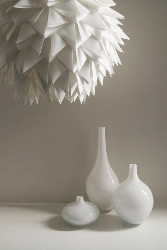La suspension Brooks papier Origami hérissés blanc lampe | Etsy