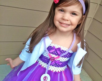 Girls Doc McStuffins Inspired Tutu Dress Halloween Costume  sc 1 st  Etsy & Doc mcstuffins costume | Etsy
