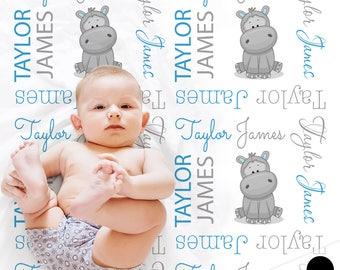 Personalised baby dimple couverture brodée souvenir nouveau né cadeau nom date