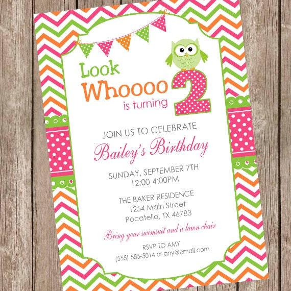 Girl owl birthday invitation little owl invitation girls etsy image 0 filmwisefo