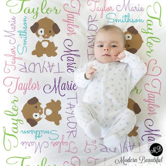 choix de 6 couleurs Personnalisé mignon fille bébé couverture