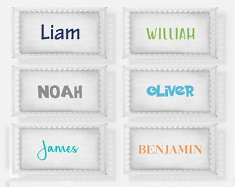 Personalized crib sheet- any name- any color text name- boy or girl- crib sheet with baby name- custom fitted crib sheet- choose colors