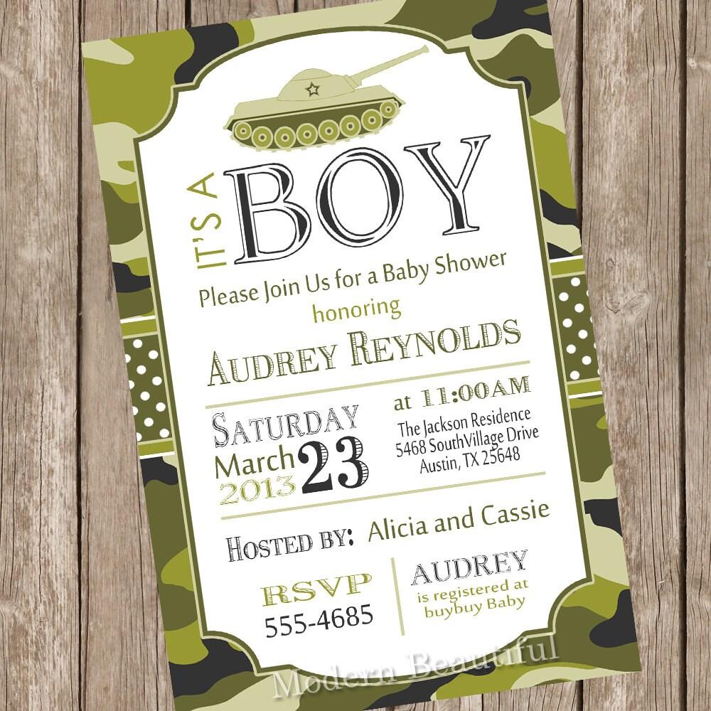 camo baby shower invitation camouflage invitation army baby | etsy
