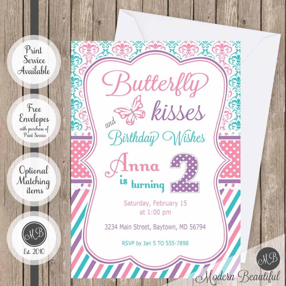 Butterfly Birthday Invitation Girl Butterfly theme girls   Etsy