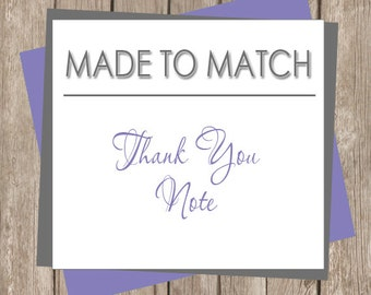 Blank Printable Thank You Note - Flat 4x6 - Made to Match (any design in our shop) Printable or printed