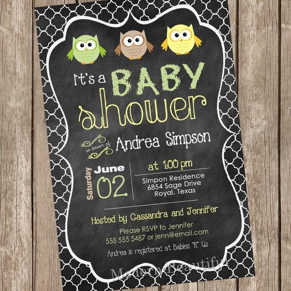 Pastel owl chalkboard baby shower invitation owl invitation etsy image 0 filmwisefo