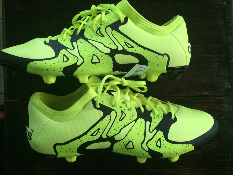 ede85b927393 Adidas X 15.2 FG AG yellow Boots Adizero 11 Mens Soccer Cleats