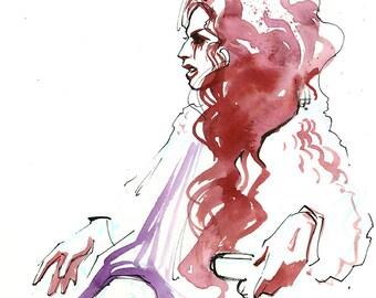 Fashion Sketch of Heidi Glum