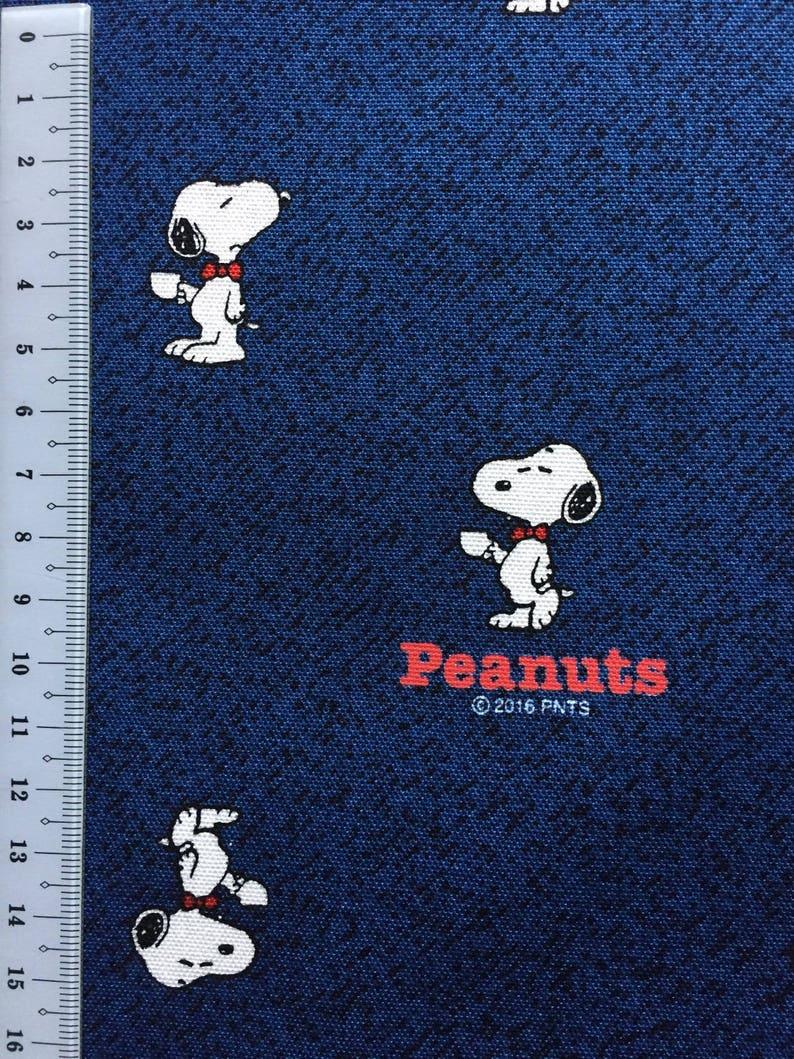 Manga Snoopy fabric blue colour One yard