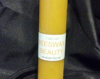 100% Pure Beeswax 8 Inch Pillar Candle