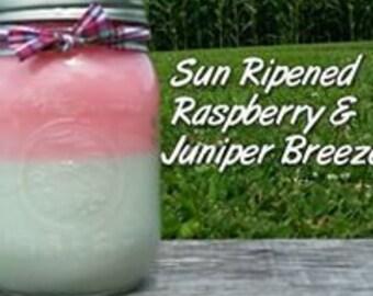 Sun Ripened Raspberry & Juniper Breeze Soy Candle in 16 oz Jar