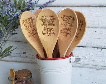 Bulk Order for Wooden Spoons, Wedding Shower, Bridal Shower, Kitchen Shower, Chili Cook-Off, Wood Spoon Favor, Birch Spoon Wedding Favor