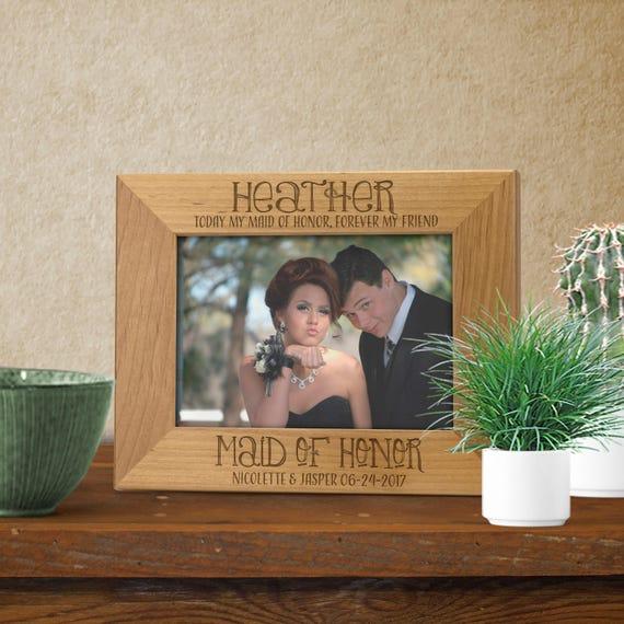 Personnalisé Demoiselle D/'honneur en Bois Cadre Photo 6x4 mariage à jamais mon ami Cadre