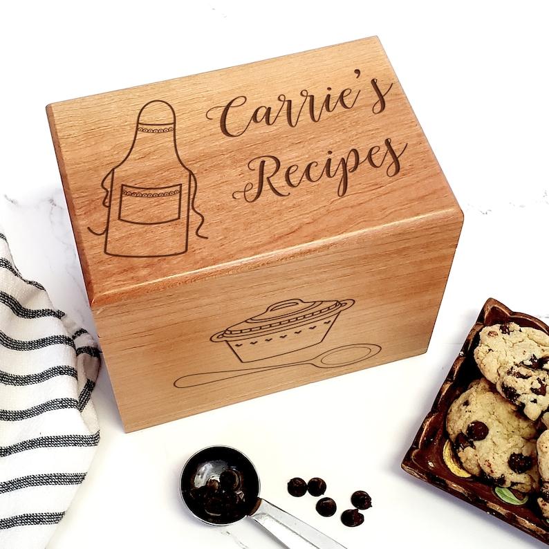 Apron Personalized Recipe Box