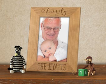 Family photo frame, Personalized family Picture Frame, Custom family frame, Vacation photo frame, Family reunion frame, Adoption Photo Frame