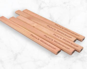 Carpenter Pencil - Personalized Pencil - Housewarming Gift - Stocking Stuffer -Gift For Woodworker - Tradesman Pencil - Plumbers Pencil