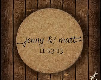 Custom Engraved Wedding Coasters - Wedding Favors