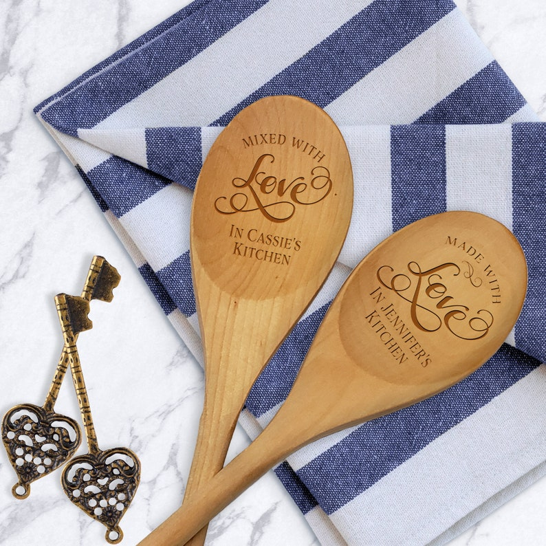 Housewarming Gift Couple Gift Wedding Spoon Mixed With Love Spoon